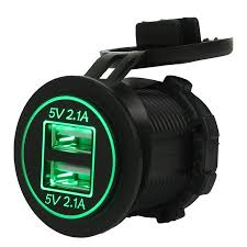 12-24V 2.1A+2.1A <b>Waterproof Car Motorcycle</b> Dual <b>USB</b> Power ...
