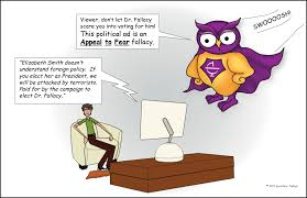 appeal to fear fallacy excelsior college owl appeal to fear logical fallacy comic the evil dr fallacy