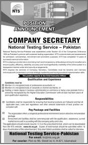 new jobs in national testing service lahore