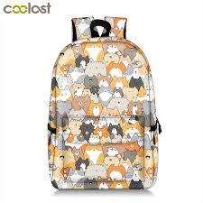 Cute Kitten Cats <b>Backpack</b> For Teenager Girls <b>Women</b> Causal <b>Bag</b> ...