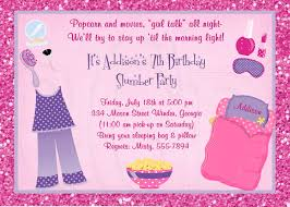 slumber party invite slumber party invitation pajama party digital file