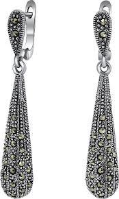Серебряные длинные серьги с подвесками <b>Silver Wings</b> 220018 ...