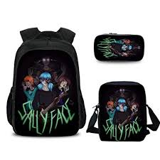 School Bags Kids Large Primary Student <b>3D Sally Face</b> Backpack ...