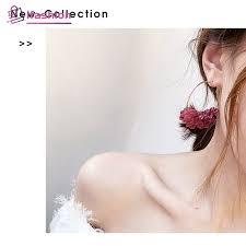 New <b>super fairy</b> handmade <b>flower earrings</b> bride sweet wedding ...