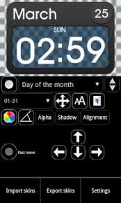 android clock widget