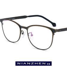 <b>Pure Titanium Eyeglasses</b> Frame Men Vintage Round Myopia ...