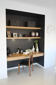Study Nook Somewhere In Main Living Zone Like The Contrast Dark Colour And Wood Detailing  R