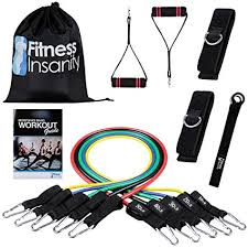 Buy <b>Fitness</b> Insanity <b>Resistance</b> Band Set 5 Stackable Exercise ...