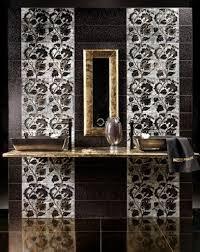 mosaic bathroom tile design ideas black classic