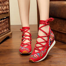 <b>Women's</b> Flats Comfort Espadrilles Embroidered Shoes Fabric ...