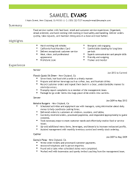 resume examples resume samples examples resume sample   resume examples resume sample summary and highlights or experience in dannys pizza as cashier