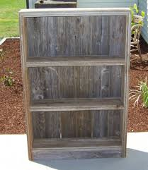 old rustic bookcase or canning shelf barn wood furniture diy