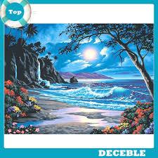 [Deble] <b>5D DIY Diamond</b> Painting Moon Tide Embroidery Full Drill ...