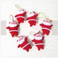 Domire <b>Christmas</b> Tree <b>Decoration Santa Claus</b> Doll -1 Set(6Pcs) Red