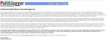 Wieder und wieder belegte Dietmar Näher, Herausgeber dieses ... - politblogger