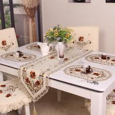 Retro European Pastoral Embroidered Floral <b>Tablecloth</b> Table ...