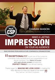 damian mason csp professional speakers network s small topics tomorrow presentatio middot promotional postcard for damian s agriculture presentations