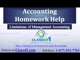 Limitations of Management Accounting  Accounting Homework Help by Classof  com