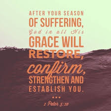 After your season of suffering, God in all His... • Sermon Quotes