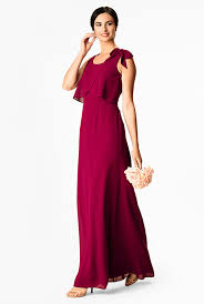 <b>Bow-tie</b> shoulder <b>chiffon</b> maxi dress - Women's Clothing 0-36W at ...