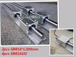 16mm <b>linear rail SBR16</b> 200mm <b>2 pcs</b> and 4 pcs SBR16UU <b>linear</b> ...