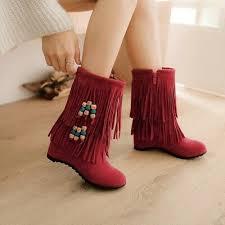Womens Winter <b>New 2019</b> Fashion Tassel <b>Ankle Boots</b> Casual ...