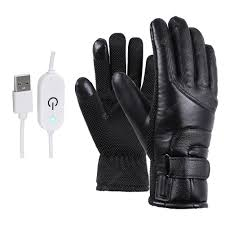 Motorcycle Electric <b>Heated Gloves</b> Polyester & Cotton Windproof ...