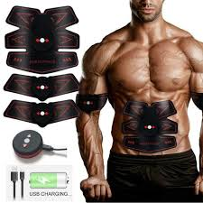 Fitness & Jogging <b>ABS Trainer Muscle Stimulator</b> Stomach Toner ...