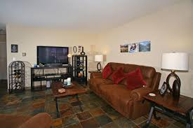 condo design slate flooring cozy and stylish  bedroom  a   bath condo in the highly desirable park