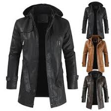 Hot ! High Quality New Winter Fashion Men's Coat Leather ... - Vova