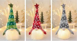 <b>Christmas decoration</b> glowing <b>dwarf</b> plush doll - earthbest