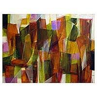 <b>ABSTRACT PAINTINGS</b> at NOVICA - Oil & Acrylic Abstracts on Canvas