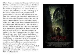 analysis of horror movie posters