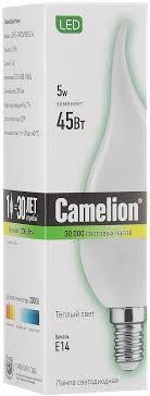 <b>Лампочка Camelion</b> LED5-<b>CW35</b>/830/<b>E14</b>, Теплый свет 5 Вт ...