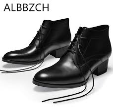New <b>spring autumn genuine leather men</b> boots black wedding dress ...