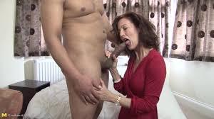 Horny older woman sucking and fucking Shameless