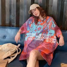 2020 Summer New Graffiti Print T Shirt Girl Loose Short Sleeve ...