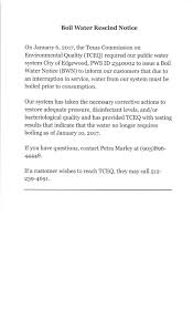 boil water rescind notice edgewood texas boil water rescind notice