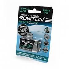 <b>Аккумуляторы</b> АА - <b>Аккумулятор крона ROBITON</b> RTU <b>270</b> мАч ...