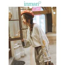 INMAN 2019 Autumn <b>New Arrival</b> O neck <b>Long Sleeve</b> Pretty Cat ...