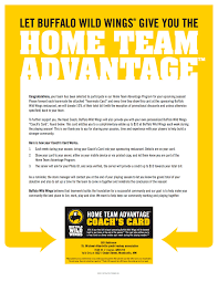 fundraising the season families need to show or mention what team they are every time they to go or dine in otherwise bww can t track the s