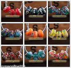 <b>10pcs</b> Murano Lampwork Glass Fit <b>European</b> Charm Bracelet Loose ...