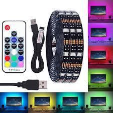 <b>DC 5V USB LED</b> Strip 5050 IP65 RGB LED Light Flexible For TV ...