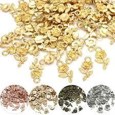 <b>20pcs</b> Tibet silver <b>Rose Flower</b> Charm Pendant beads DIY Jewelry ...