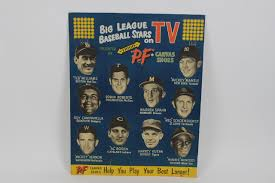 sports auctions vintage 1955 big league baseball stars on tv advertising 19 5 x 24 5 display mantle ted williams roy campanella