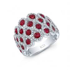 white <b>gold natural color</b> inspired stylish ruby diamond ring