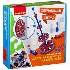 Настольная <b>игра Дартс</b> на магнитах «КАТАПУЛЬТА», 25x7x25 см ...