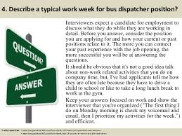 top  bus dispatcher interview questions and answers