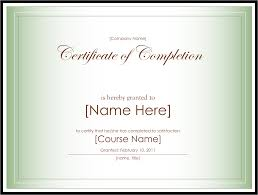 10 best images of certificate completion template blank via it
