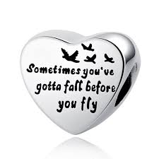 WOSTU 100% Authentic <b>925 Sterling Silver Heart</b> Shape Charm ...